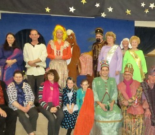 "Cast of ""It's a Lad in a Manger"""