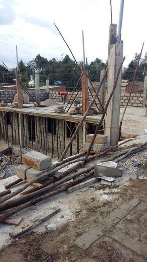 Construction works at Upendo Junior School