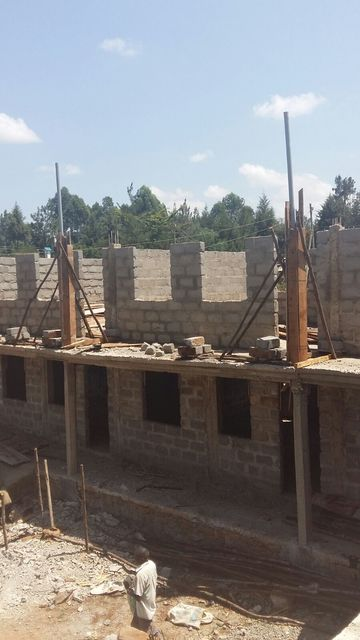 Upendo - new school rooms under construction