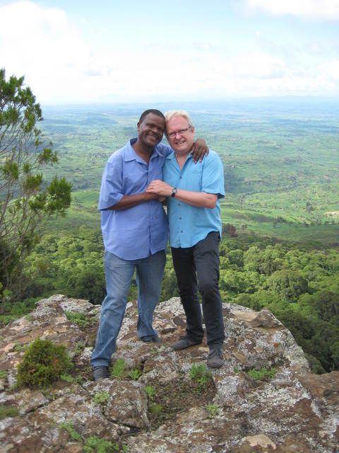Dr Masibo Lumala (Kiminini, Kenya) and Terry Maxwell (Bradmore, UK)