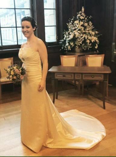 Helen at her Edinburgh Wedding Christmas 2015 - stunning