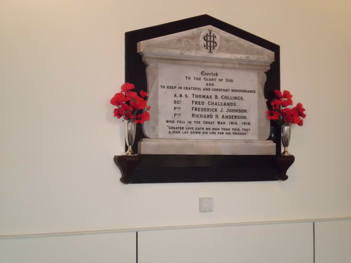 War Memorial located in the Methodist Chapel