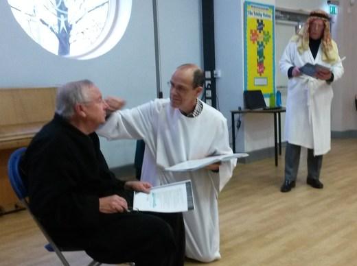 Healing blind Bartimaeus