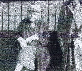 Mrs Ethel Randall outside the Methodist Church