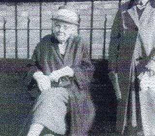 Mrs Ethel Randall outside the Methodist Church