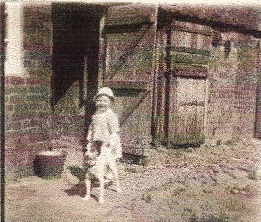 Arthur Smedley with Sam's dog c 1914