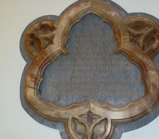 The plaque dedicated to our founder - Revd Bannister