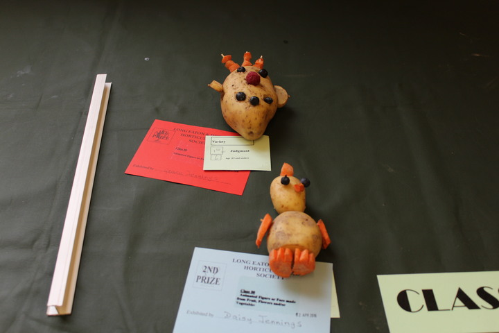 Children's potato animal exhibits
