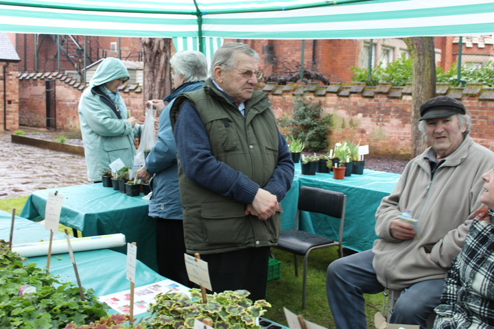 Plant stall with our Members