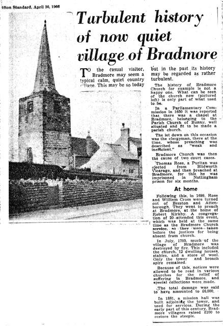 Turbulent History of Bradmore