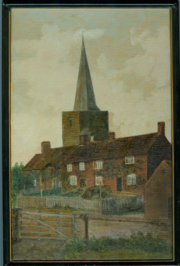 Bradmore Main Street PC 06-12-1918 Painting .