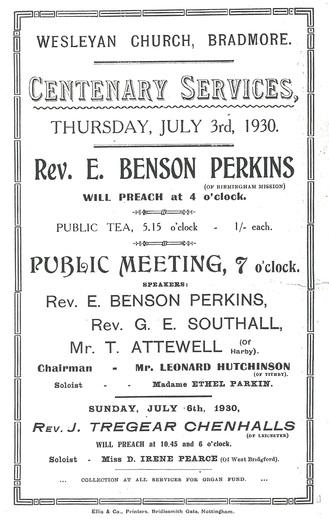 Chapel Centenary 1930 1