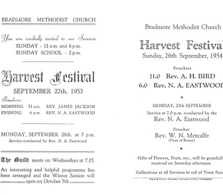 Chapel Harvests 1953 & 1954 1