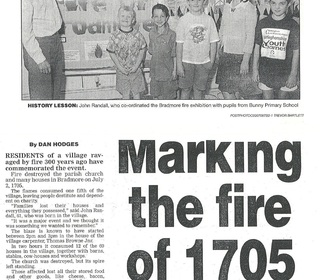 Bradmore Fire - Third centenary