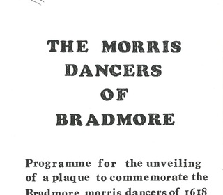 Morris dancers plaque 1985 1
