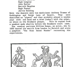 Morris dancers plaque 1985 4