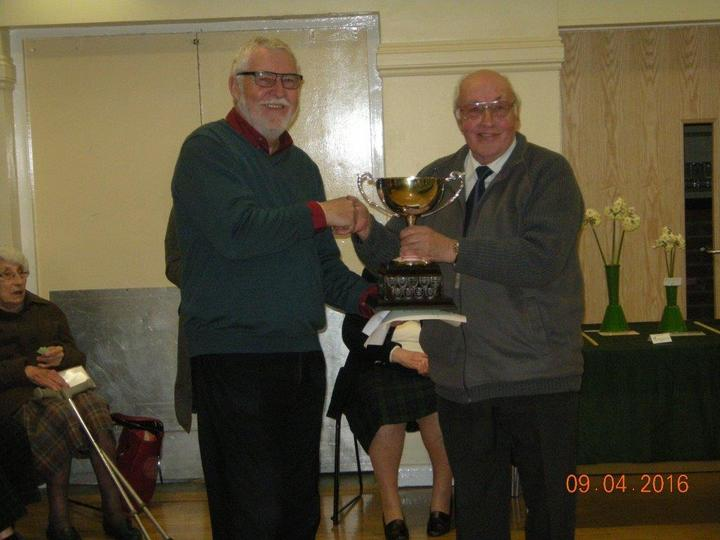 Lyndon Clements winning the D.R.Nind Trophy