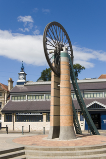 Radstock Museum and Mining Wheel