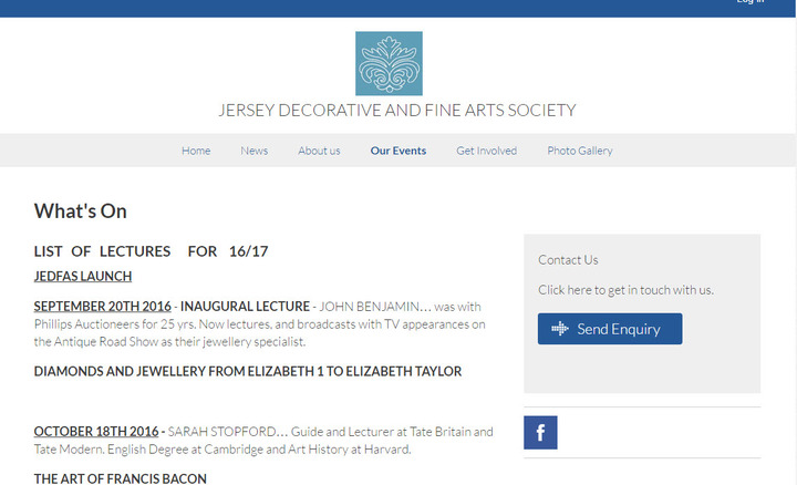 Jersey Decorative and Fine Arts Society