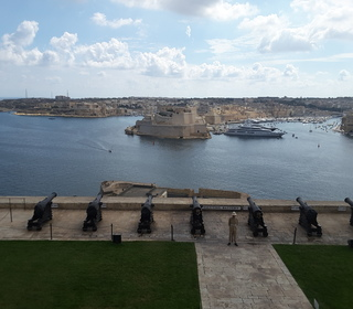 The Saluting Gallery and Grand Harbour