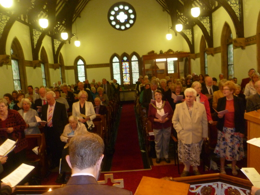 The Church was filled to capacity for the service