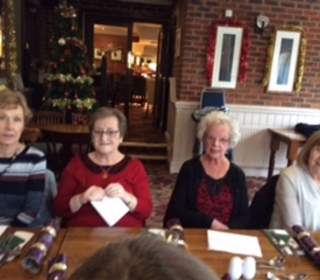 Janet, Cath, Joyce & Margaret ready for their lunch