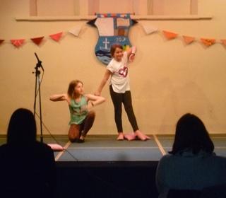 Teagan and Ruby-Mae perform their dance duet
