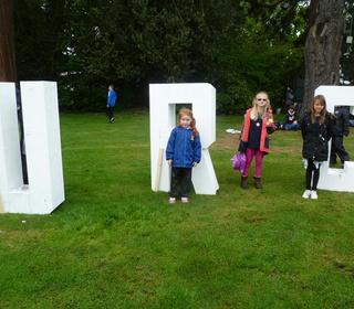 Kristin, Felicity & Chloe with the URC figures