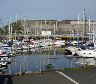 Queen Ann's Battery, where we picked up the chartered yachts (Tanner)