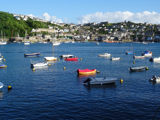 Picturesque Polruan, across the river from Fowey (Tanner)