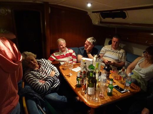 Bertie skipper Peter Smerdon shares a joke, but has Jude heard it all before? (Tanner)