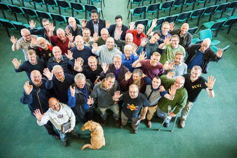 Some of our men enjoying fellowship at Iron Men