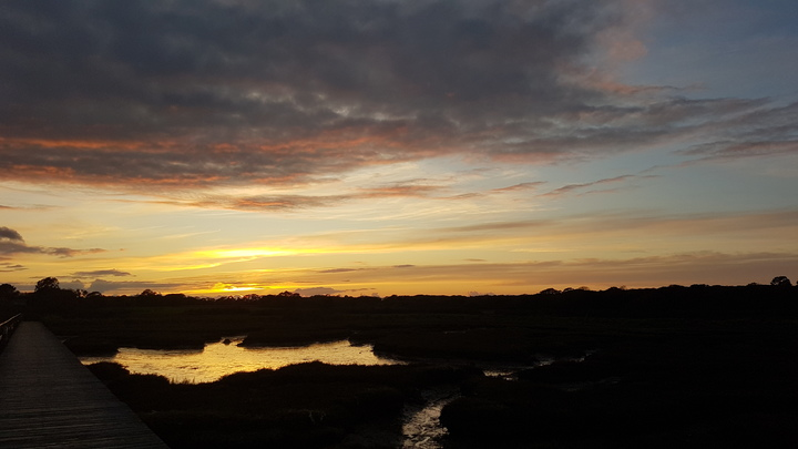 Day 3 - Sunset on The Beaulieu River