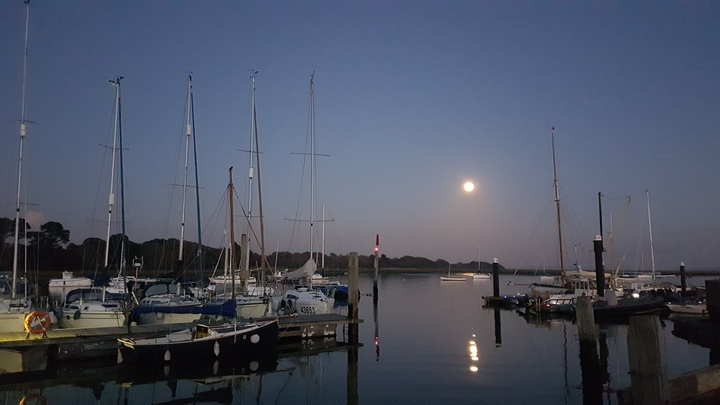 Day 1 - Moonrise over Lymington