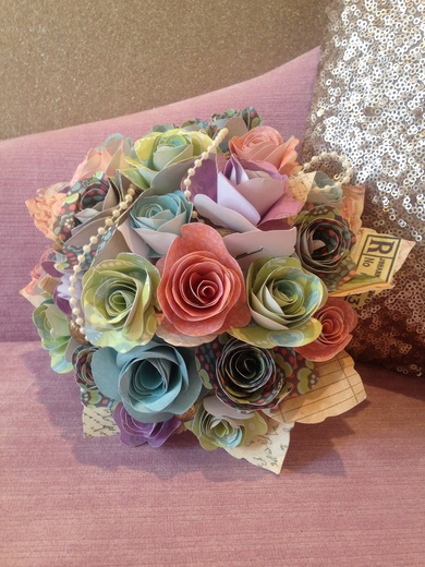 Beautiful Bouquet Made from Paper by Jackdaw Decor