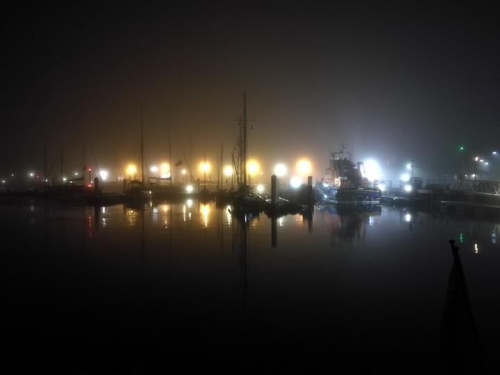 Foggy night in Yarmouth