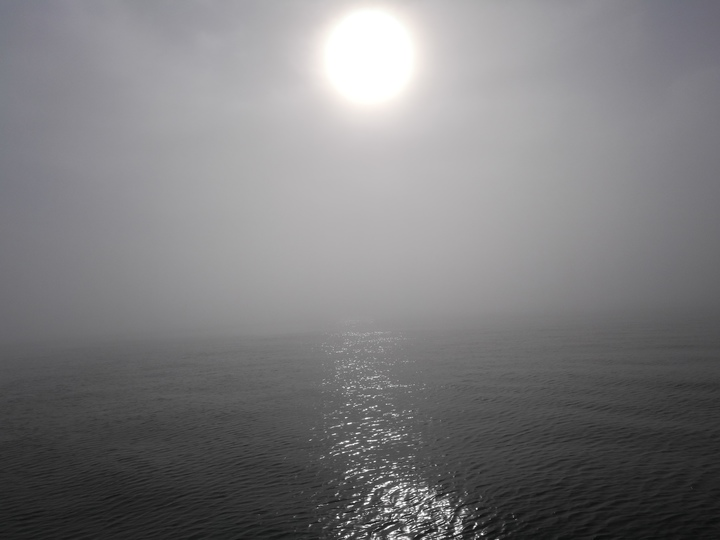 Sun through Channel Fog - 1 of 2