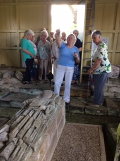 """Ruth explains the artefacts in the """"Green Hut"""""""