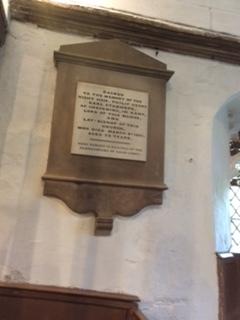 A commemorative plaque in the Church