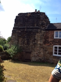 Part of the old Abbey is now part of the house