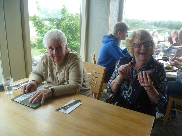 Margaret & Jean are waiting for lunch