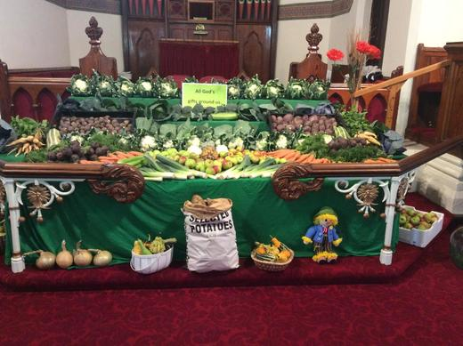 The Harvest display of fresh produce