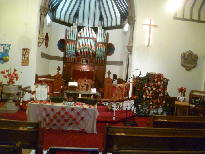 The beautiful decorations in the Church