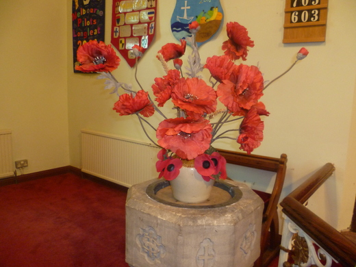 The Poppy flower display