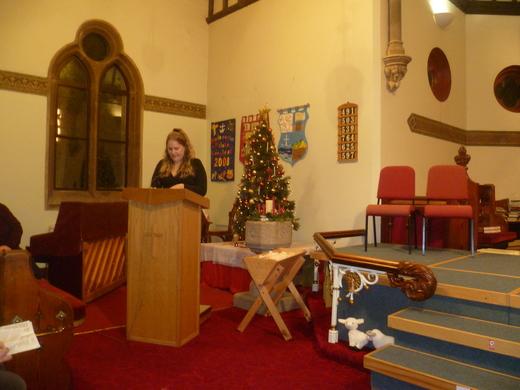 Kim reads Luke's account of the Birth of Jesus