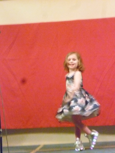 Little Layla performs her dance.
