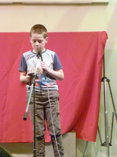Ethan sings his solo