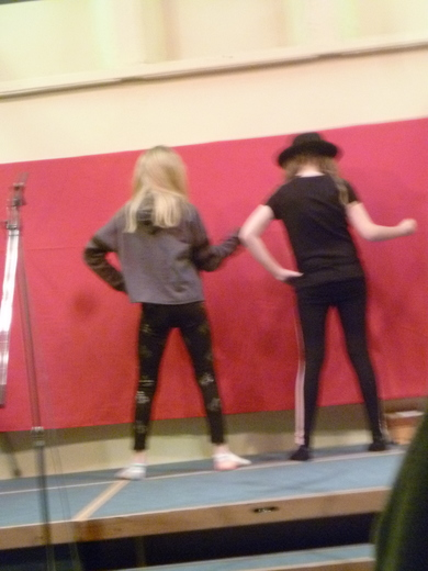 Felicity and Alice dance to a Michael Jackson number
