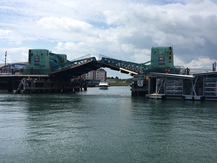 First bridge opening at Poole