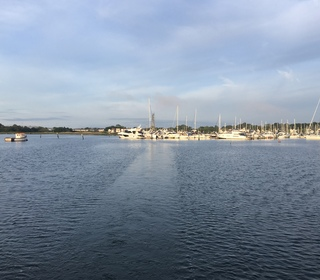 Early morning leaving Poole